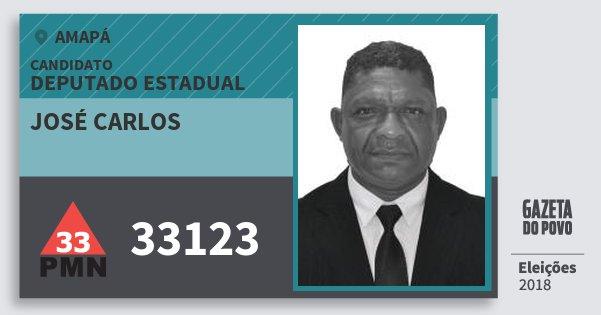 Santinho José Carlos 33123 (PMN) Deputado Estadual | Amapá | Eleições 2018