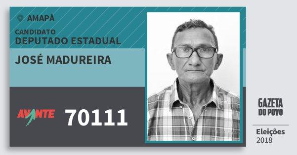 Santinho José Madureira 70111 (AVANTE) Deputado Estadual | Amapá | Eleições 2018