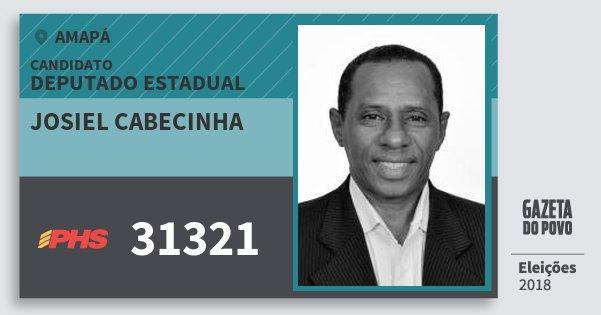 Santinho Josiel Cabecinha 31321 (PHS) Deputado Estadual | Amapá | Eleições 2018