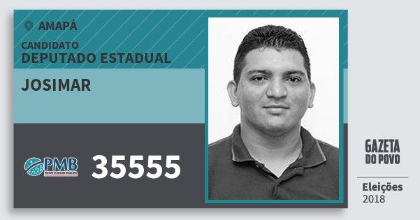 Santinho Josimar 35555 (PMB) Deputado Estadual | Amapá | Eleições 2018