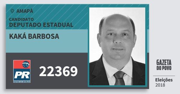 Santinho Kaká Barbosa 22369 (PR) Deputado Estadual | Amapá | Eleições 2018