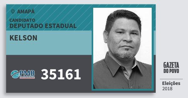 Santinho Kelson 35161 (PMB) Deputado Estadual | Amapá | Eleições 2018