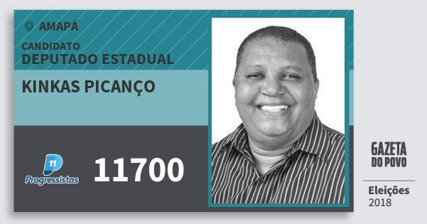 Santinho Kinkas Picanço 11700 (PP) Deputado Estadual | Amapá | Eleições 2018