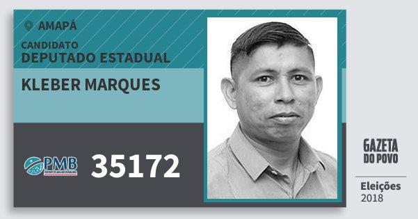 Santinho Kleber Marques 35172 (PMB) Deputado Estadual | Amapá | Eleições 2018