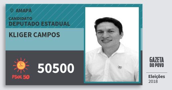 Santinho Kliger Campos 50500 (PSOL) Deputado Estadual | Amapá | Eleições 2018