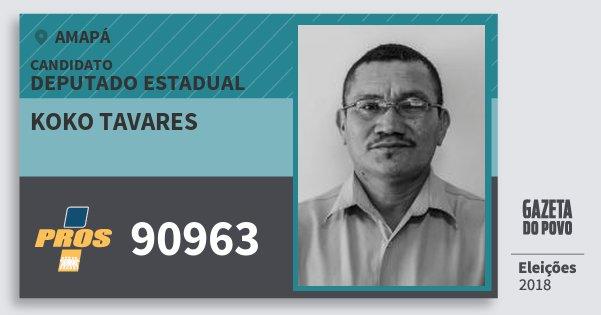 Santinho Koko Tavares 90963 (PROS) Deputado Estadual | Amapá | Eleições 2018