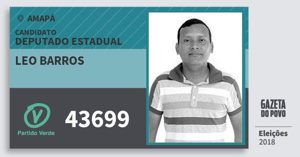 Santinho Leo Barros 43699 (PV) Deputado Estadual | Amapá | Eleições 2018