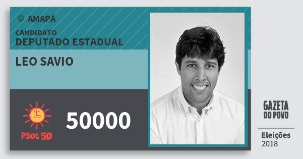 Santinho Leo Savio 50000 (PSOL) Deputado Estadual | Amapá | Eleições 2018
