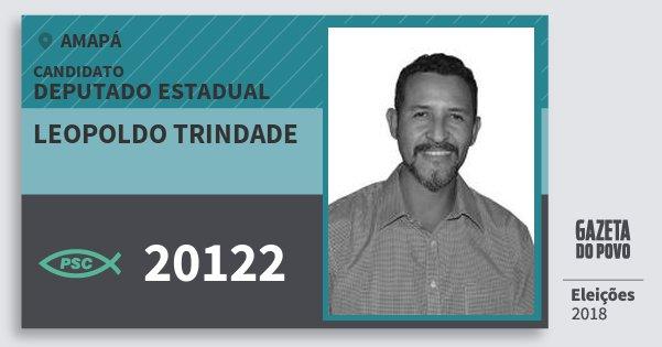 Santinho Leopoldo Trindade 20122 (PSC) Deputado Estadual | Amapá | Eleições 2018