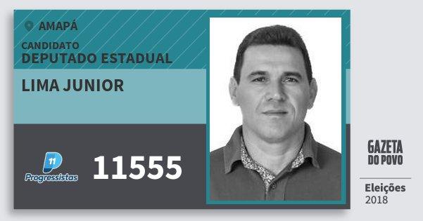 Santinho Lima Junior 11555 (PP) Deputado Estadual | Amapá | Eleições 2018