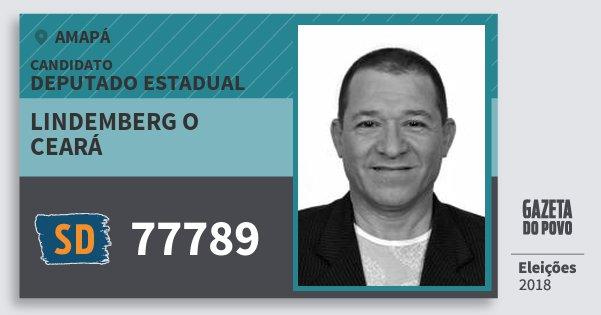 Santinho Lindemberg O Ceará 77789 (SOLIDARIEDADE) Deputado Estadual | Amapá | Eleições 2018