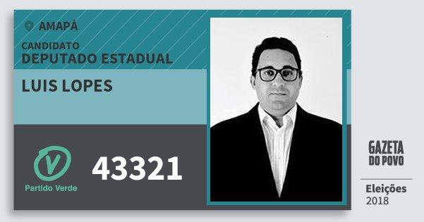 Santinho Luis Lopes 43321 (PV) Deputado Estadual | Amapá | Eleições 2018