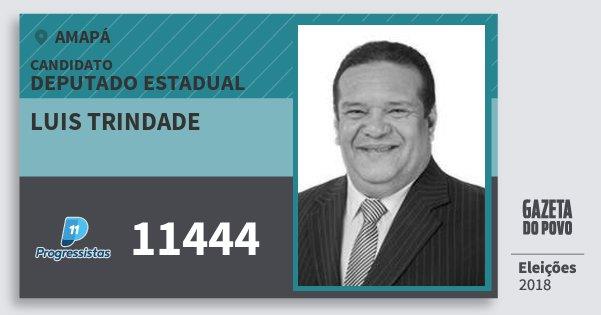 Santinho Luis Trindade 11444 (PP) Deputado Estadual | Amapá | Eleições 2018