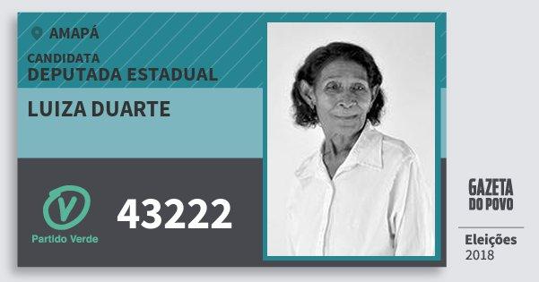 Santinho Luiza Duarte 43222 (PV) Deputada Estadual | Amapá | Eleições 2018