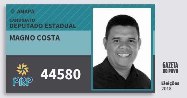 Santinho Magno Costa 44580 (PRP) Deputado Estadual | Amapá | Eleições 2018