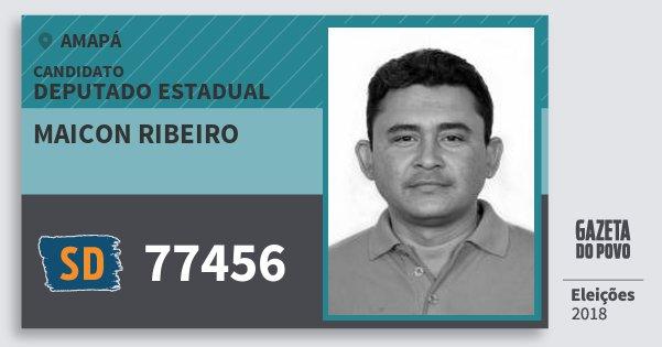 Santinho Maicon Ribeiro 77456 (SOLIDARIEDADE) Deputado Estadual | Amapá | Eleições 2018