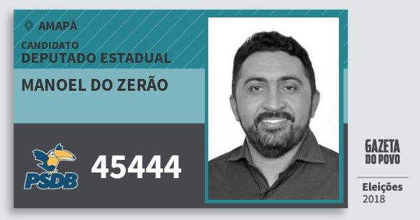 Santinho Manoel do Zerão 45444 (PSDB) Deputado Estadual | Amapá | Eleições 2018