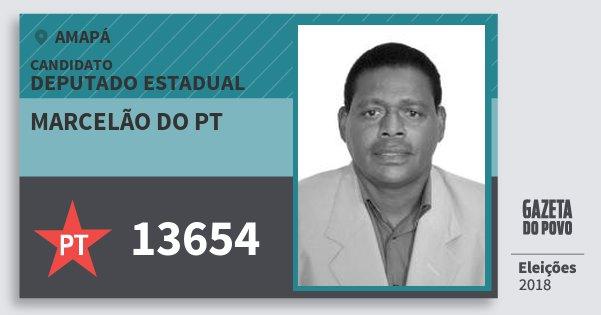 Santinho Marcelão do Pt 13654 (PT) Deputado Estadual | Amapá | Eleições 2018