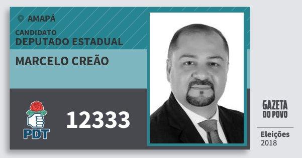 Santinho Marcelo Creão 12333 (PDT) Deputado Estadual | Amapá | Eleições 2018