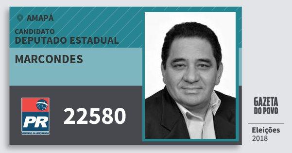 Santinho Marcondes 22580 (PR) Deputado Estadual | Amapá | Eleições 2018