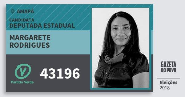 Santinho Margarete Rodrigues 43196 (PV) Deputada Estadual | Amapá | Eleições 2018