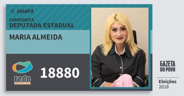 Santinho Maria Almeida 18880 (REDE) Deputada Estadual | Amapá | Eleições 2018