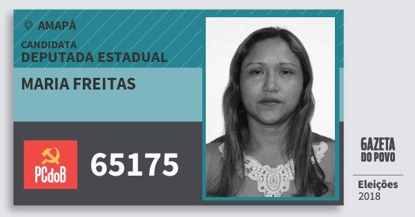 Santinho Maria Freitas 65175 (PC do B) Deputada Estadual | Amapá | Eleições 2018