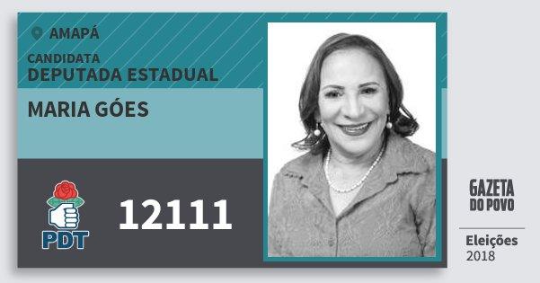 Santinho Maria Góes 12111 (PDT) Deputada Estadual | Amapá | Eleições 2018