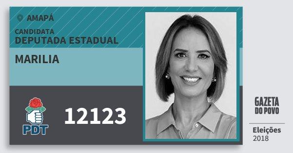 Santinho Marilia 12123 (PDT) Deputada Estadual | Amapá | Eleições 2018