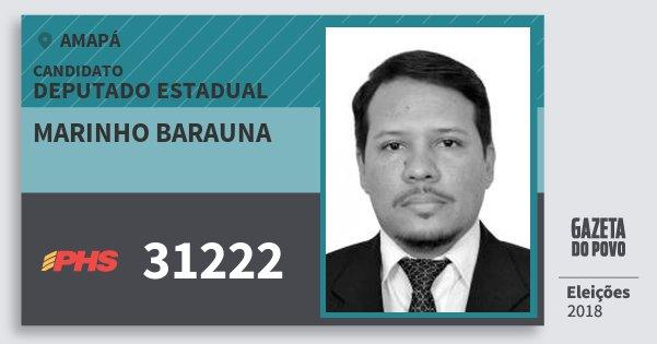Santinho Marinho Barauna 31222 (PHS) Deputado Estadual | Amapá | Eleições 2018