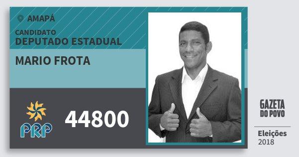 Santinho Mario Frota 44800 (PRP) Deputado Estadual | Amapá | Eleições 2018