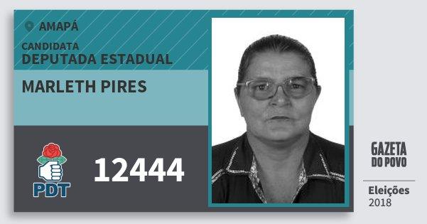Santinho Marleth Pires 12444 (PDT) Deputada Estadual | Amapá | Eleições 2018