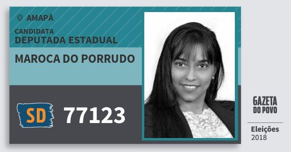 Santinho Maroca do Porrudo 77123 (SOLIDARIEDADE) Deputada Estadual | Amapá | Eleições 2018
