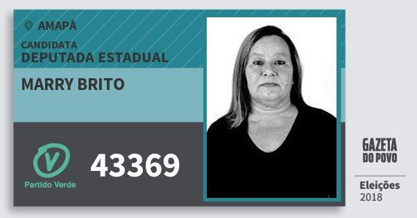 Santinho Marry Brito 43369 (PV) Deputada Estadual | Amapá | Eleições 2018