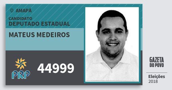 Santinho Mateus Medeiros 44999 (PRP) Deputado Estadual | Amapá | Eleições 2018