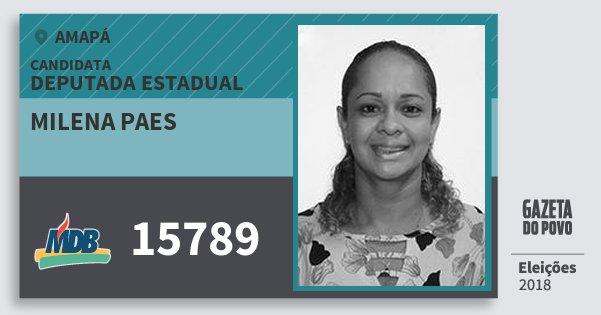 Santinho Milena Paes 15789 (MDB) Deputada Estadual   Amapá   Eleições 2018