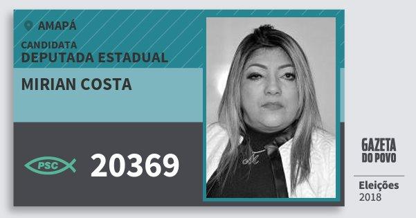 Santinho Mirian Costa 20369 (PSC) Deputada Estadual | Amapá | Eleições 2018