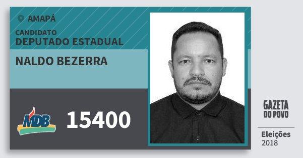Santinho Naldo Bezerra 15400 (MDB) Deputado Estadual | Amapá | Eleições 2018