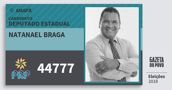 Santinho Natanael Braga 44777 (PRP) Deputado Estadual | Amapá | Eleições 2018