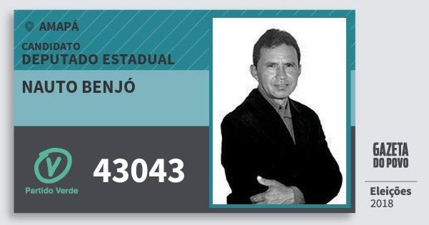 Santinho Nauto Benjó 43043 (PV) Deputado Estadual | Amapá | Eleições 2018