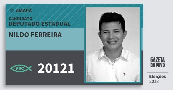 Santinho Nildo Ferreira 20121 (PSC) Deputado Estadual | Amapá | Eleições 2018
