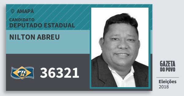 Santinho Nilton Abreu 36321 (PTC) Deputado Estadual | Amapá | Eleições 2018