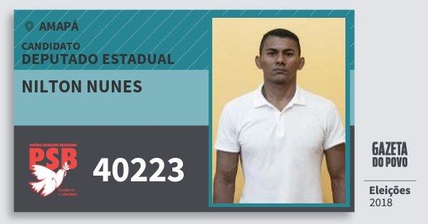 Santinho Nilton Nunes 40223 (PSB) Deputado Estadual | Amapá | Eleições 2018