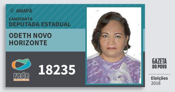 Santinho Odeth Novo Horizonte 18235 (REDE) Deputada Estadual | Amapá | Eleições 2018