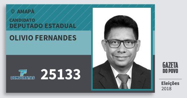 Santinho Olivio Fernandes 25133 (DEM) Deputado Estadual | Amapá | Eleições 2018