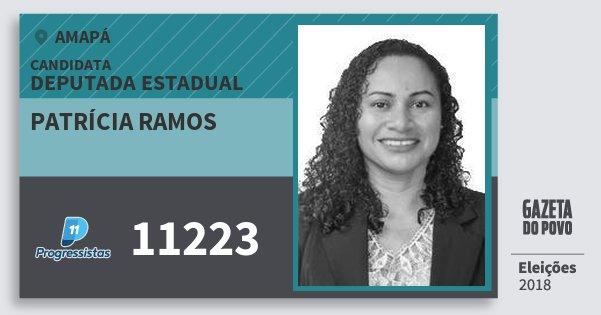 Santinho Patrícia Ramos 11223 (PP) Deputada Estadual | Amapá | Eleições 2018