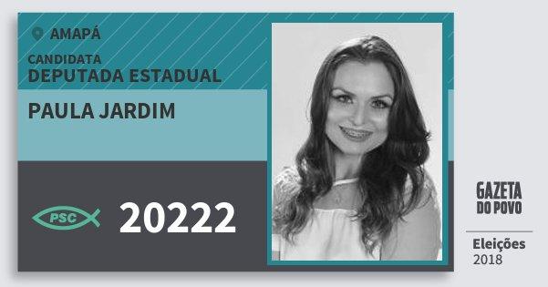 Santinho Paula Jardim 20222 (PSC) Deputada Estadual | Amapá | Eleições 2018