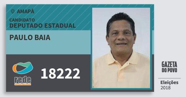 Santinho Paulo Baia 18222 (REDE) Deputado Estadual | Amapá | Eleições 2018