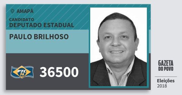 Santinho Paulo Brilhoso 36500 (PTC) Deputado Estadual | Amapá | Eleições 2018