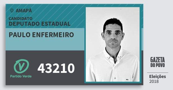 Santinho Paulo Enfermeiro 43210 (PV) Deputado Estadual | Amapá | Eleições 2018